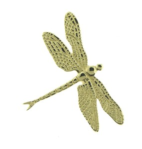 custom pendant, gold pendant, dragonfly pendant