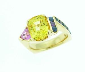 custom design, custom sapphire ring