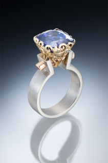 Tanzanite ring, contemporary ring